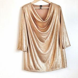 💥30% off bundles💥 Gold foiled knit top